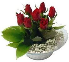 Hakkari çiçek siparişi sitesi  cam yada mika içerisinde 5 adet kirmizi gül