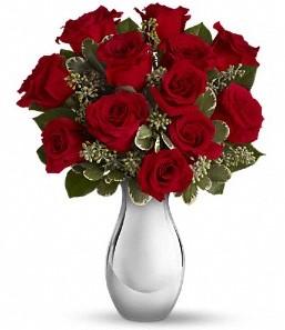 Hakkari internetten çiçek siparişi   vazo içerisinde 11 adet kırmızı gül tanzimi