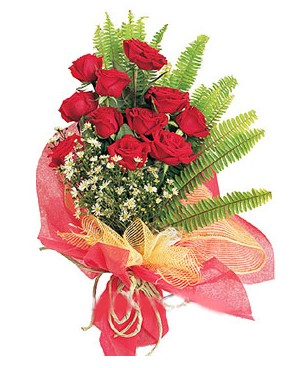 Hakkari çiçek yolla , çiçek gönder , çiçekçi   11 adet kırmızı güllerden buket modeli