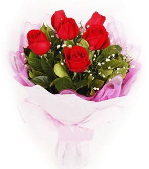 Hakkari anneler günü çiçek yolla  kırmızı 6 adet gülden buket