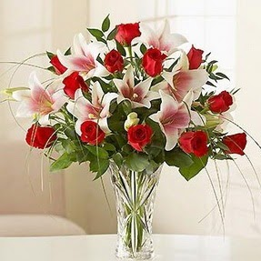 Hakkari çiçek servisi , çiçekçi adresleri  12 adet kırmızı gül 1 dal kazablanka çiçeği