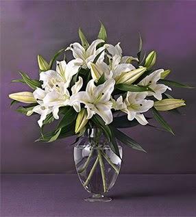 Hakkari çiçek yolla , çiçek gönder , çiçekçi   4 dal cazablanca vazo çiçeği