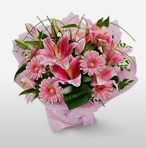 1 dal kazablanka ve kır çiçek görsel buketi  Hakkari çiçek siparişi sitesi
