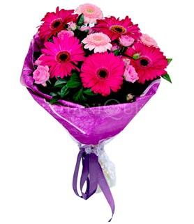 Hakkari çiçekçi mağazası  karışık gerbera çiçeği buketi
