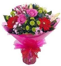 Karışık mevsim çiçekleri demeti  Hakkari çiçek siparişi vermek