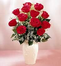 Hakkari hediye çiçek yolla  9 adet vazoda özel tanzim kirmizi gül