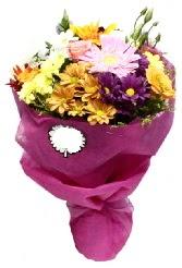 1 demet karışık görsel buket  Hakkari 14 şubat sevgililer günü çiçek