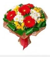 1 demet karışık buket  Hakkari anneler günü çiçek yolla