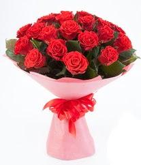 15 adet kırmızı gülden buket tanzimi  Hakkari çiçekçi mağazası