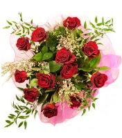12 adet kırmızı gül buketi  Hakkari uluslararası çiçek gönderme
