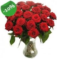 Vazo içerisinde 25 adet kırmızı gül  Hakkari online çiçek gönderme sipariş