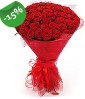 51 adet kırmızı gül buketi özel hissedenlere  Hakkari çiçekçi mağazası