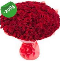 Özel mi Özel buket 101 adet kırmızı gül  Hakkari 14 şubat sevgililer günü çiçek