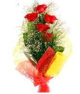5 li kırmızı gül buketi  Hakkari çiçek siparişi sitesi