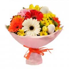 Karışık mevsim buketi Mevsimsel çiçek  Hakkari çiçekçiler