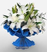 4 dal kazablanka çiçeğinden buket  Hakkari online çiçek gönderme sipariş