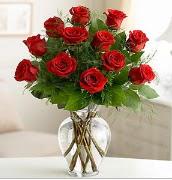 Vazo içerisinde 12 kırmızı gül  Hakkari çiçekçi telefonları
