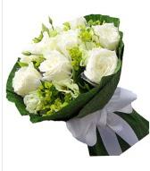 9 adet beyaz gül buketi  Hakkari çiçekçi mağazası