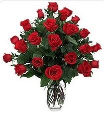 Hakkari çiçekçi mağazası  24 adet kırmızı gülden vazo tanzimi