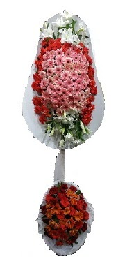çift katlı düğün açılış sepeti  Hakkari çiçek siparişi sitesi