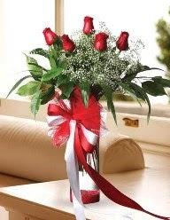 Camda 5 kırmızı gül tanzimi  Hakkari çiçek gönderme