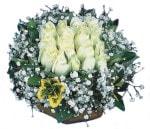 Hakkari internetten çiçek satışı  Beyaz harika bir gül sepeti