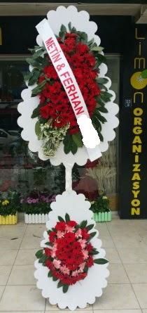 Çift katlı düğün nikah çiçeği modeli  Hakkari çiçekçi mağazası