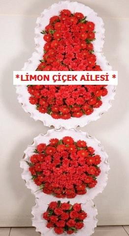 3 katlı kırmızı düğün açılış çiçeği  Hakkari çiçek yolla