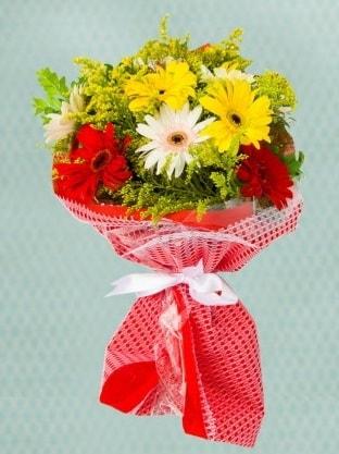 Karışık Gelbera Buketi  Hakkari çiçekçi mağazası