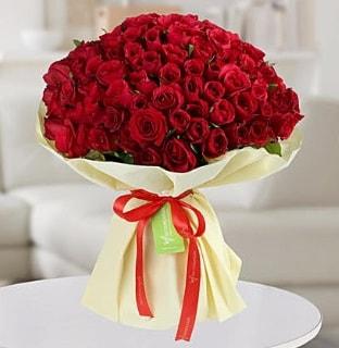 101 adet kırmızı gül buketi koca demet  Hakkari çiçekçiler