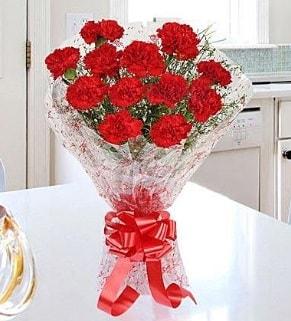 12 adet kırmızı karanfil buketi  Hakkari çiçek yolla , çiçek gönder , çiçekçi