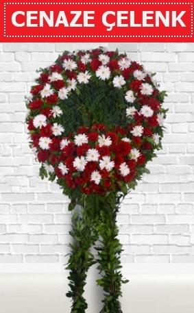 Kırmızı Beyaz Çelenk Cenaze çiçeği  Hakkari çiçek yolla , çiçek gönder , çiçekçi