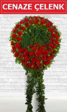 Kırmızı Çelenk Cenaze çiçeği  Hakkari çiçek yolla , çiçek gönder , çiçekçi