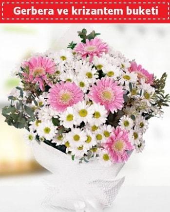 Papatya ve Gerbera Buketi  Hakkari çiçek satışı