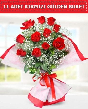 11 Adet Kırmızı Gül Buketi  Hakkari çiçekçiler