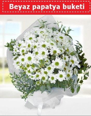 Beyaz Papatya Buketi  Hakkari uluslararası çiçek gönderme