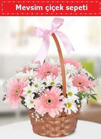 Mevsim kır çiçek sepeti  Hakkari çiçek satışı