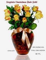 Hakkari çiçek siparişi sitesi  mika yada Cam vazoda 12 adet sari gül